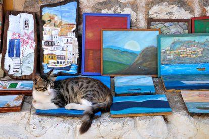Detalhe em uma das ruas da ilha do Golfo Sarônico.