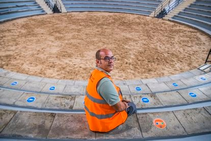 Fran Leal, conselheiro municipal de Obras em Los Llanos, no campo de batalha das Canárias, em La Palma.