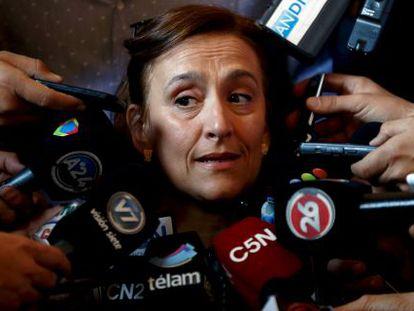 Gabriela Michetti, em abril passado.