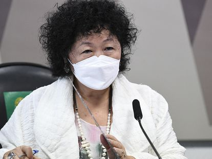 A médica oncologista Nise Yamaguchi, que foi ouvida pela CPI da pandemia nesta terça-feira.