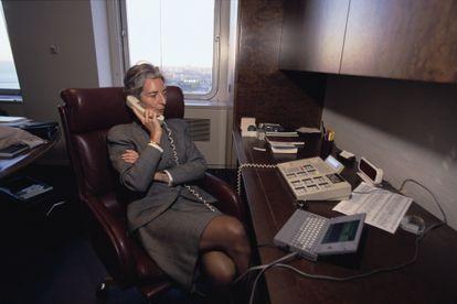 Christine Lagarde trabalhando no escritório da Baker McKenzie em 1999.