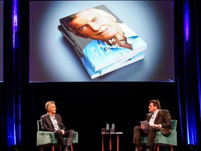 Mauricio Macri, ex-presidente da Argentina, durante a apresentação de seu livro, em Buenos Aires.