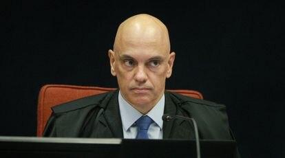 Ministro Alexandre de Moraes durante sessão da 1ª turma do STF no último dia 23.