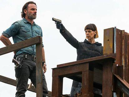 Cena do último capítulo da sétima temporada de 'The Walking Dead'.