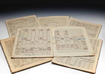 A partitura da 'Segunda Sinfonia' de Mahler que vai a leilão.