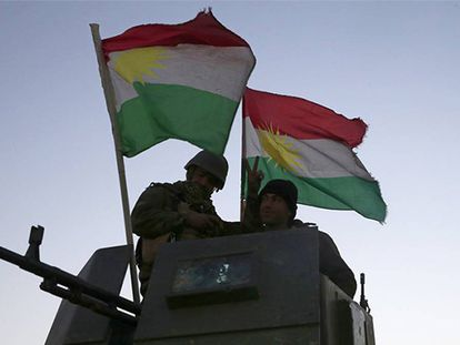Forças curdas iraquianas, em seu avanço rumo a Mosul.