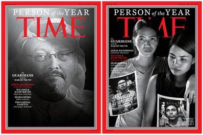 Capas da revista 'Time' com as 'Pessoas do Ano'