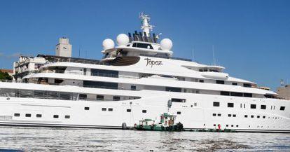O 'Topaz', o barco no qual DiCaprio se hospeda durante este Mundial.