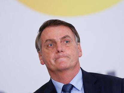 O presidente Bolsonaro nessa quarta-feira, em Brasília.