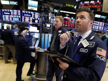 O principal índice da Bolsa espanhola, o Ibex 35, na segunda-feira.
