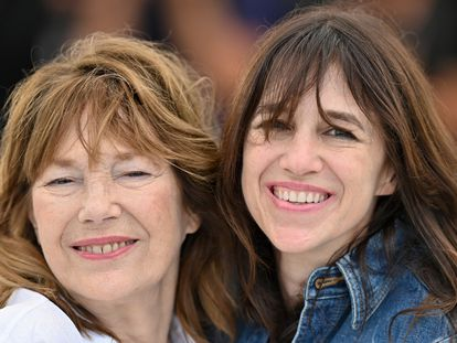 Jane Birkin e Charlotte Gainsbourg, no último Festival de Cannes, em julho