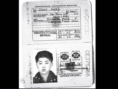 O passaporte brasileiro com a foto de Jong-un foi emitido em nome de Josef Pwag.