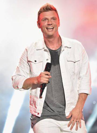 Nick Carter em um show em 2018.