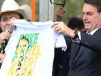 Jair Bolsonaro durante la presentación de su nuevo partido, este martes en Brasilia.