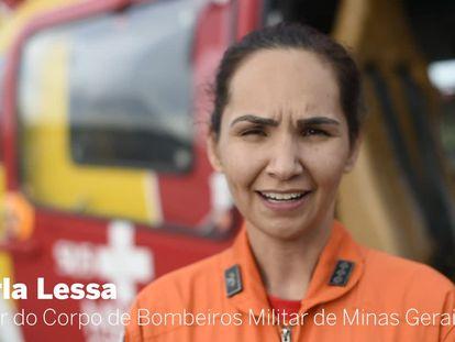 """Piloto em Brumadinho: """"É lindo minha sobrinha saber que pode ser bombeira se quiser"""""""