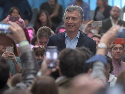 Mauricio Macri em Buenos Aires, durante a apresentação de um plano que simplifica a inscrição de novas empresas.
