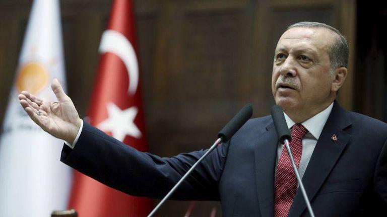 Erdogan, durante um ato de seu partido