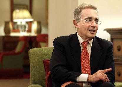 Álvaro Uribe, nesta terça-feira em Madri.