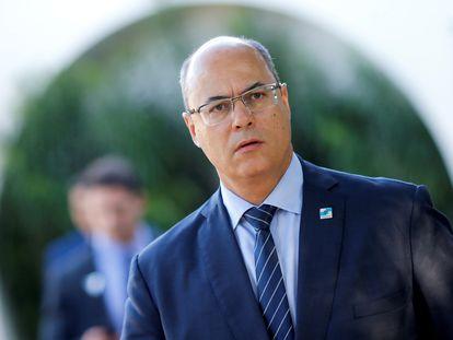 O governador do Rio, Wilson Witzel, após encontro com o presidente Jair Bolsonaro em Brasília, em maio.