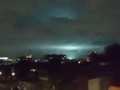 A explicação para as luzes no céu durante o terremoto