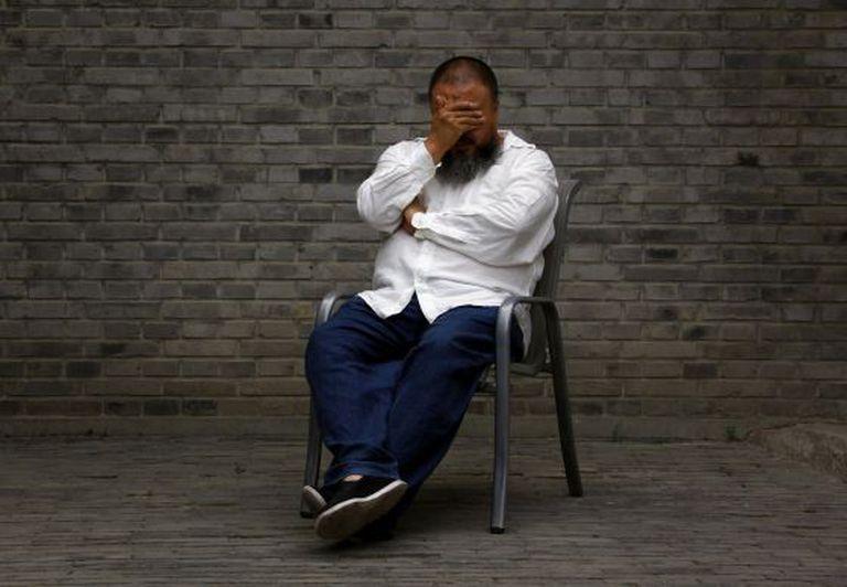 O dissidente Ai Weiwei em uma imagem de 2012.