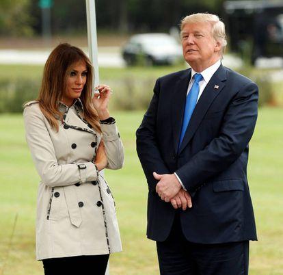Melania Trump e Donald Trump.