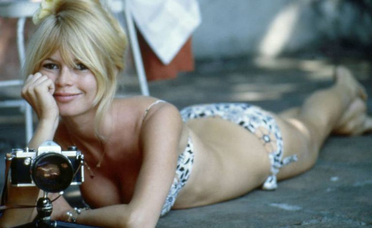 Bardot numa pausa das filmagens de 'Viva Maria!'.