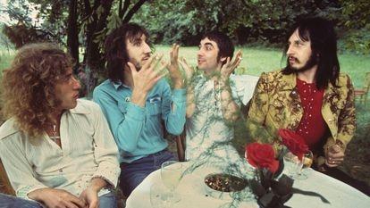 The Who, em 15 de julho de 1971 em Surrey, Inglaterra. Da esquerda para a direita: Roger Daltrey, Pete Townshend, Keith Moon e John Entwistle.