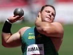 Tokyo 2020 Olympics - Athletics - Men's Shot Put - Final - Olympic Stadium, Tokyo, Japan - August 5, 2021. Darlan Romani of Brazil in action REUTERS/Hannah Mckay