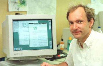Tim Berners-Lee, no CERN, onde criou a World Wide Web