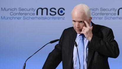 O senador John McCain, na sexta-feira em Munique