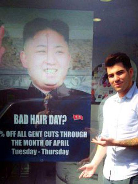 Karim Nabbach, que usou a imagem do líder norte-coreano.