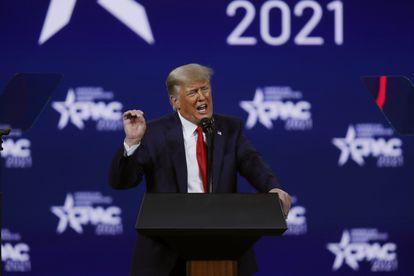 O ex-presidente Donald Trump participa da Conferência de Ação Política Conservadora em Orlando, Flórida, em 28 de fevereiro.