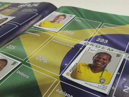 A página do Brasil no álbum da Copa feminina 2019.