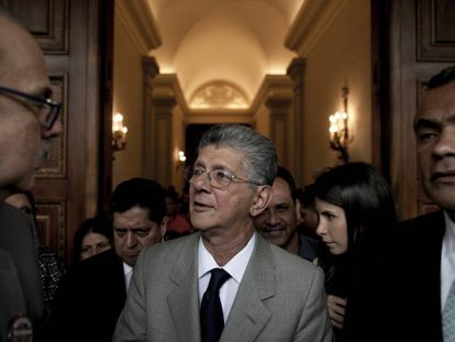 Henry Ramos Allup, presidente da Assembleia Nacional da Venezuela, nesta terça.