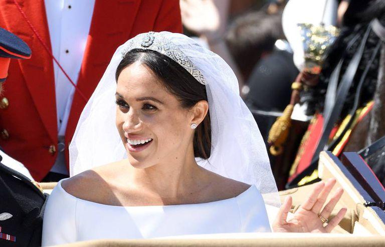 Meghan Markle, após cerimônia de casamento neste sábado.