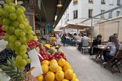O mercado des Enfants Rouges, no bairro parisiense do Marais.