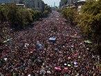 Manifestação em Santiago no dia 8 de março de 2020.JAVIER TORRES / AFP (AFP)