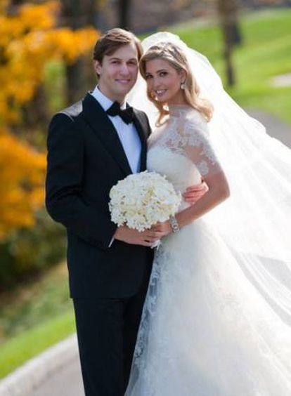 Jared Kushner e Ivanka Trump, em seu casamento em 2009