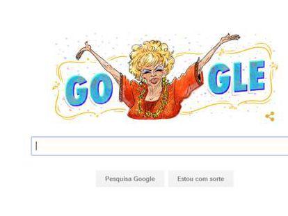 Dercy Gonçalves ganha Doodle do Google.