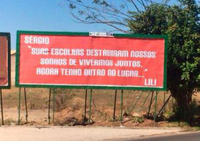 A mensagem de Lili a Sérgio em Juazeiro do Norte.