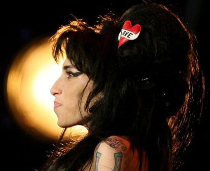 Amy Winehouse no festival Rock in Rio Lisboa, em 2008.
