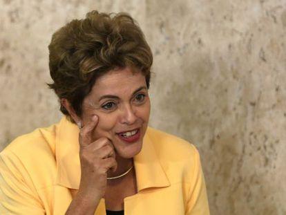 Rousseff, nesta quarta-feira, no Planalto.