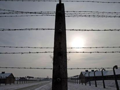 Campo de extermínio de Auschwitz, em janeiro.