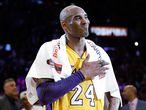 Kobe Bryant. Kobe Bryant, en su despedida.