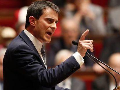 O primeiro-ministro francês, Manuel Valls, nesta terça-feira.