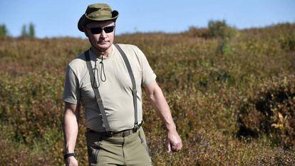 O presidente russo, Vladimir Putin, durante suas férias no sul da Sibéria, nesta semana.