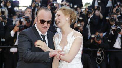 Quentin Tarantino e Uma Thurman, em maio passado no festival de Cannes.