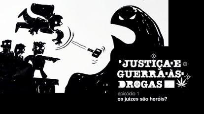 """Capa do primeiro episódio da série, """"Os juízes são heróis?""""."""