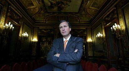 Pedro Dallari, coordenador da Comissao da Verdade, durante a entrevista na Casa América de Madrid.